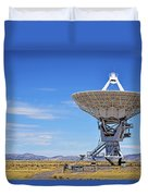Very Large Array - Vla - Radio Telescopes Duvet Cover by Christine Till