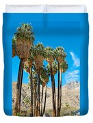 Very Tall Fan Palms In Andreas Canyon In Indian Canyons-ca Duvet Cover