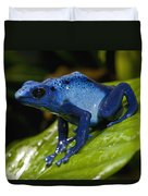Very Tiny Blue Poison Dart Frog Duvet Cover