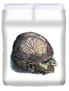 Vesalius: Cranium Duvet Cover