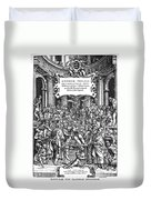 Vesalius Teaching Anatomy Duvet Cover