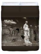 Vestal Virgin Courtyard Statue Duvet Cover