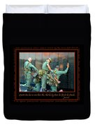 Veterans At Vietnam Wall Duvet Cover by Carolyn Marshall