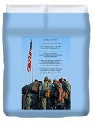Veterans Remember Duvet Cover