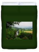 Vezere River Valley Duvet Cover