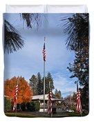 Vfw Hall Veterans Day Duvet Cover