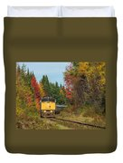 Fall Colours With Train Duvet Cover