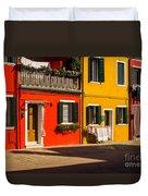 Vibrant Burano Duvet Cover
