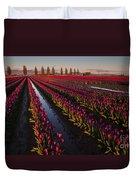 Vibrant Dusk Tulips Duvet Cover