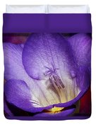 Vibrant Purple Flower Duvet Cover