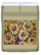 Vibrant Sunflower Essence Duvet Cover