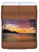 Vibrant Tropical Sunset Duvet Cover