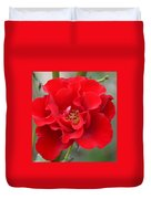 Vibrantly Red Rose Duvet Cover