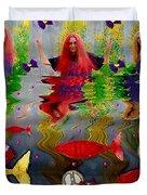 Vice Versa Pop Art Duvet Cover