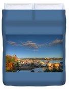 Victoria Bc Fisherman's Wharf Duvet Cover