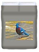 Victoria Crowned Pigeon In San Diego Zoo Safari In Escondido-california Duvet Cover