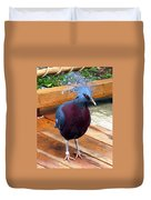 Victoria Crowned Pigeon Strutting Around Duvet Cover