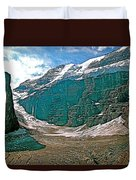 Victoria Glacier From Plain Of Six Glaciers In Banff Np-alberta Duvet Cover