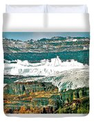 Victoria Glacier From Plain Of Six Glaciers Trail In Banff Np-ab Duvet Cover