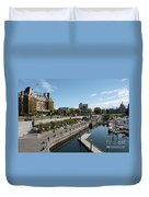 Victoria Harbour With Empress Hotel Duvet Cover