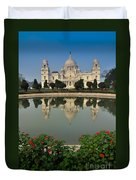 Victoria Memorial Kolkata India - Reflection On Water Duvet Cover