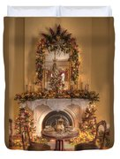Victorian Christmas By The Fire Duvet Cover