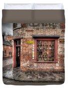 Victorian Corner Shop Duvet Cover by Adrian Evans