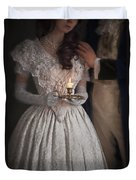 Victorian Couple By Candlelight Duvet Cover