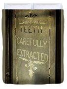 Victorian Dentist Sign Duvet Cover