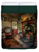 Victorian Fire Place Duvet Cover by Adrian Evans