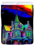 Victorian House Pop Art Duvet Cover
