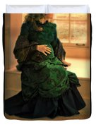 Victorian Lady Expecting A Baby Duvet Cover