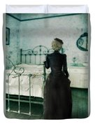 Victorian Lady In A Bedroom Duvet Cover