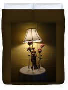 Victorian Lamp And Roses Duvet Cover