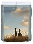 Victorian Man And Woman Duvet Cover
