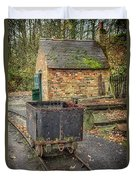 Victorian Mining Cart Duvet Cover