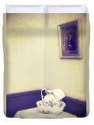 Victorian Wash Basin And Jug Duvet Cover by Amanda Elwell