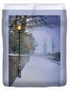 Victorian Winter Street Scene Duvet Cover