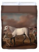 Victorious At Newmarket Duvet Cover