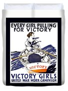 Victory Girls Of W W 1     1918 Duvet Cover