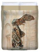 Victory Of Samothrace Duvet Cover by Joey Agbayani