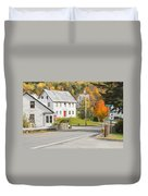 Vienna Maine In Fall Duvet Cover by Keith Webber Jr