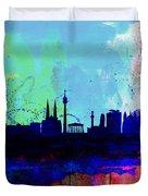 Vienna Watercolor Skyline Duvet Cover