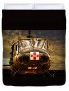 Vietnam Era Medivac 369 Helicopter Duvet Cover