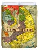 Vietnam War Map Duvet Cover