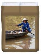 Vietnamese Boatwoman 01 Duvet Cover
