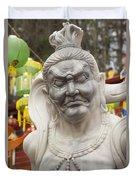 Vietnamese Temple Statue Duvet Cover
