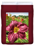 Viette's Daylily. Dark Purple 01 Duvet Cover