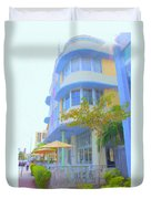 View Down Collins Ave Duvet Cover