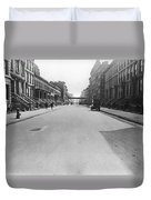 View East On 78th Street Duvet Cover